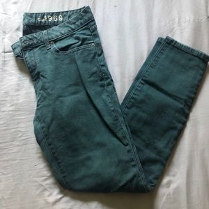 Gap green jeans